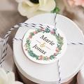 Etiquette Cadeau Mariage Couronne Tropicale gratuit
