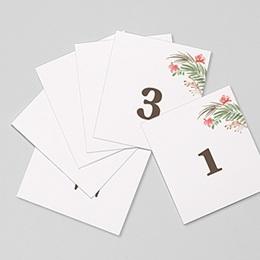 Marque table mariage Couronne Tropicale Numéro de table