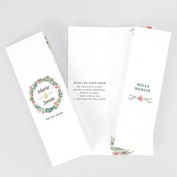 Carte remerciement mariage champêtre Couronne Tropicale Pochette