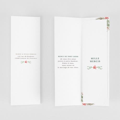 Carte Remerciement Mariage Champêtre Couronne Tropicale Pochette gratuit