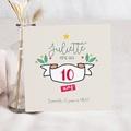 Carte Invitation Anniversaire Enfant Floral Tropical 10 ans