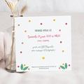 Carte Invitation Anniversaire Enfant Floral Tropical 10 ans pas cher