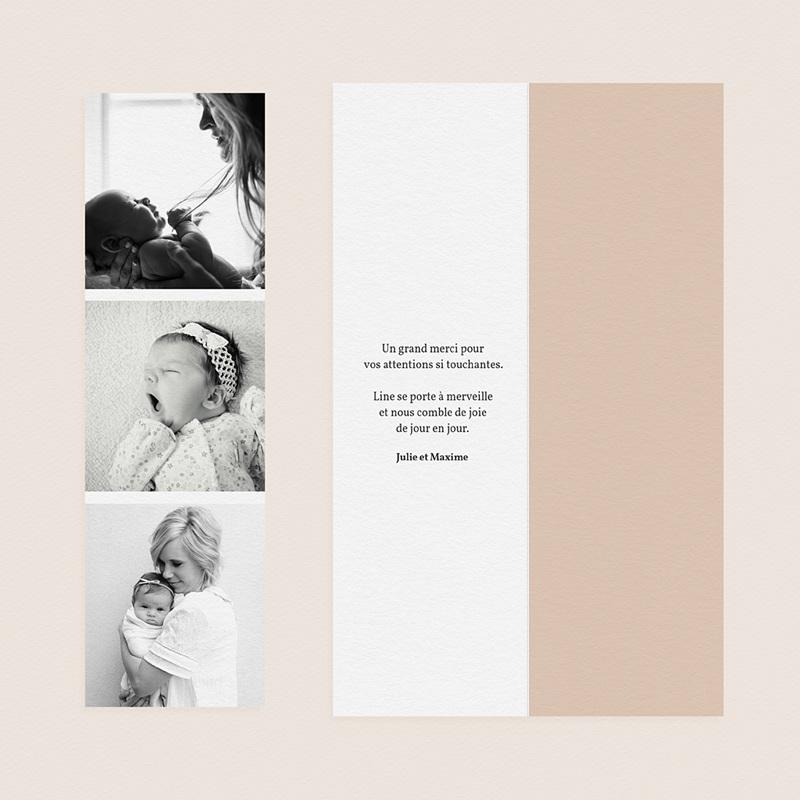 Carte Remerciement Naissance Fille Arc en Ciel gratuit