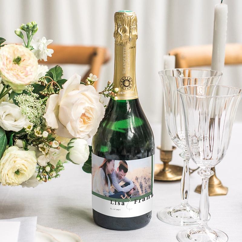 Etiquette Bouteille Champagne Jardin Tropical gratuit