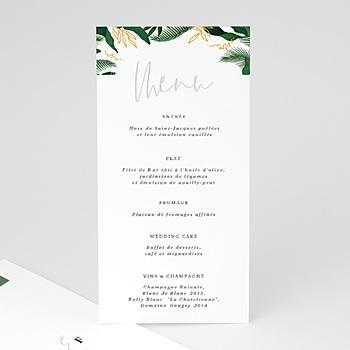 Menu mariage Jardin Tropical à personnaliser