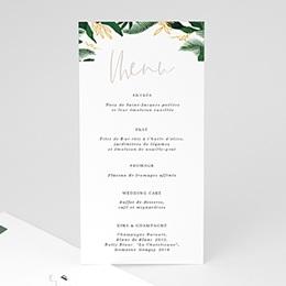 Menu mariage Jardin Tropical