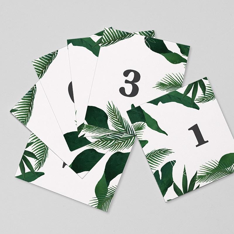 Marque Table Mariage Jardin Tropical