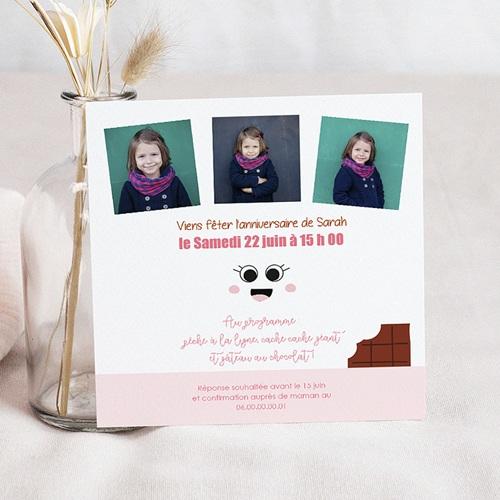 Carte Invitation Anniversaire Enfant 5 ans Choco pas cher