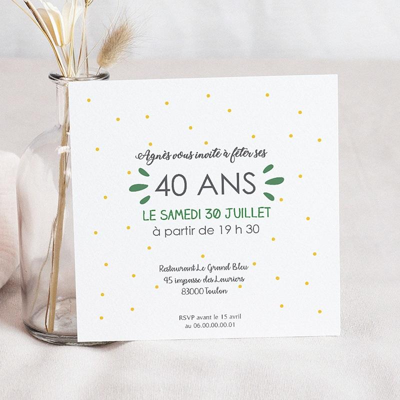 Carte invitation anniversaire adulte J'ai 4 ans ! pas cher