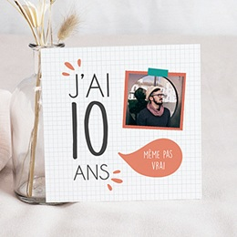 Carte Invitation Anniversaire Adulte - J'ai 10 ans ! 80671