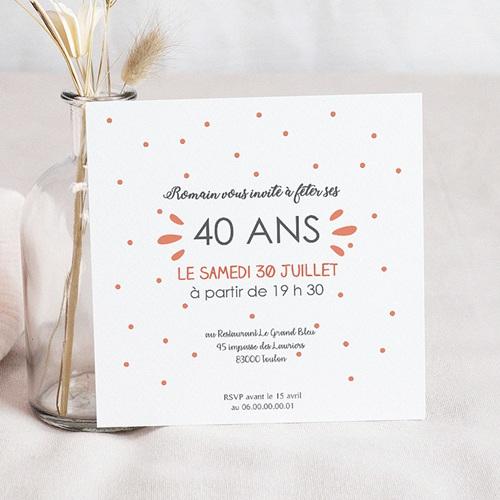 Carte Invitation Anniversaire Adulte J'ai 10 ans ! pas cher