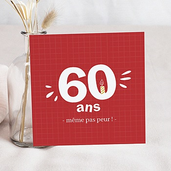 Carte Invitation Anniversaire 60 Ans Echantillon Offert