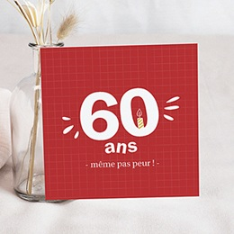 Carte invitation anniversaire adulte - Multi-âges 80680
