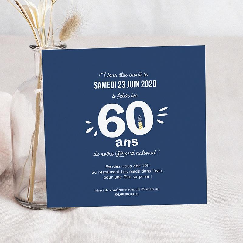 Carte Invitation Anniversaire Adulte Multi-âges pas cher
