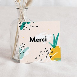 Carte remerciement naissance fille Ananas Artsy