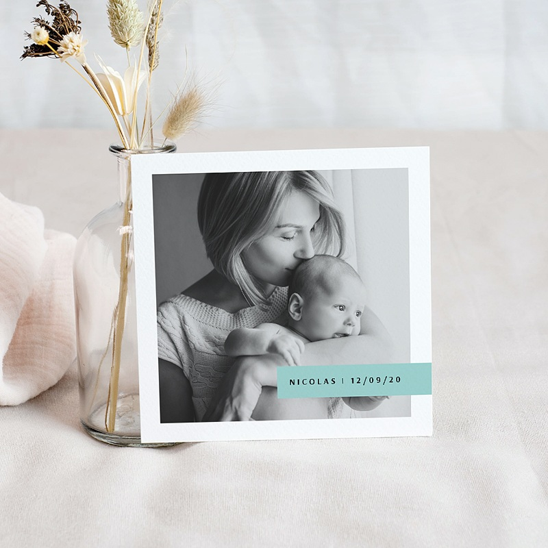 Carte remerciement naissance fille Ananas Artsy pas cher