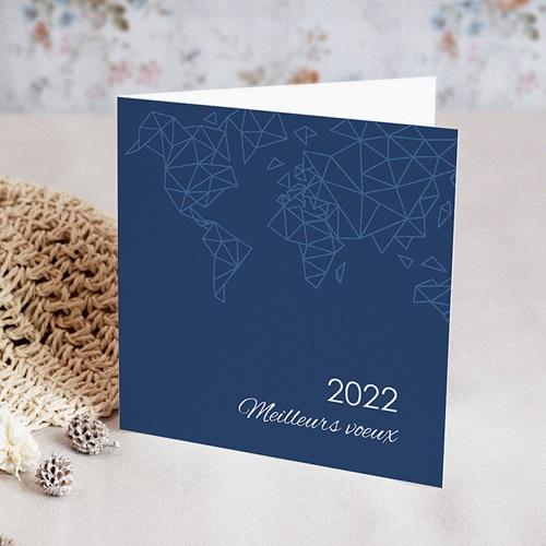 Carte de voeux 2020 Monde en relief
