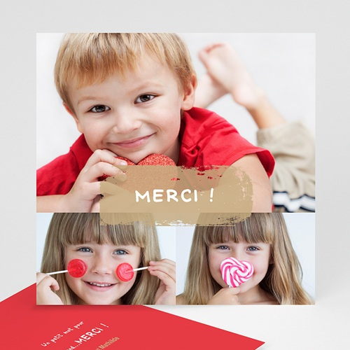 Cartes Multi-photos 3 & + - 3 photos - 1 Bordure rouge 809