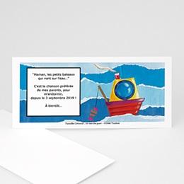 Faire-Part Naissance Le bébé et la mer