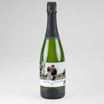 Etiquette bouteille champagne Inchyra blue