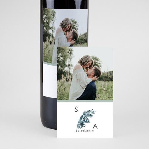 Étiquette bouteille mariage vin Inchyra blue pas cher