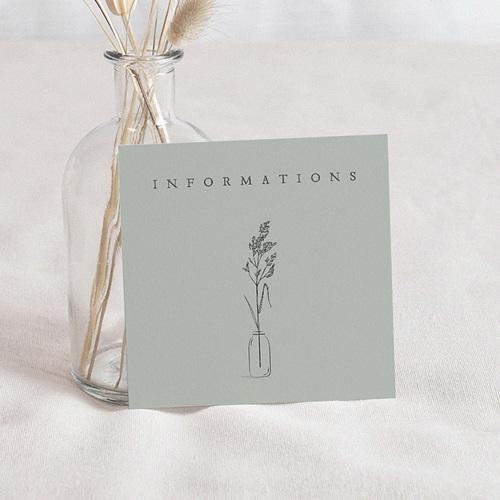 Carton Réponse Mariage Brin d'amour