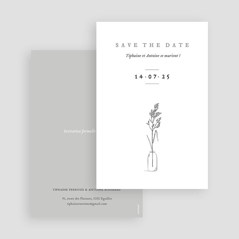 Save The Date Mariage Brin d'amour gratuit