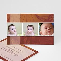 Faire-Part Naissance Carte mémoire marron