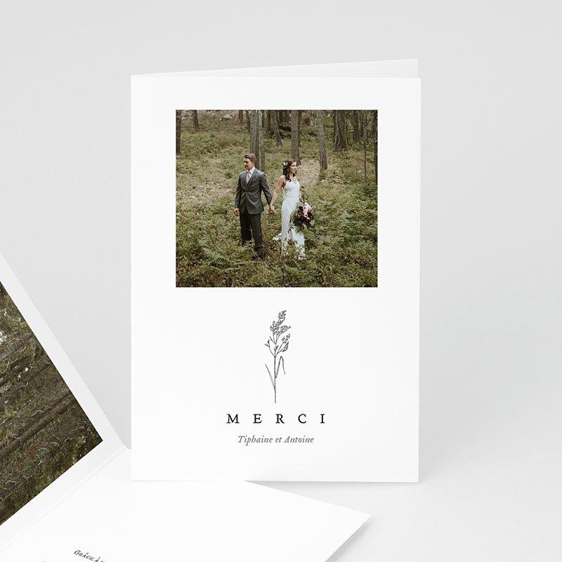 Carte Remerciement Mariage Champêtre Brin d'amour