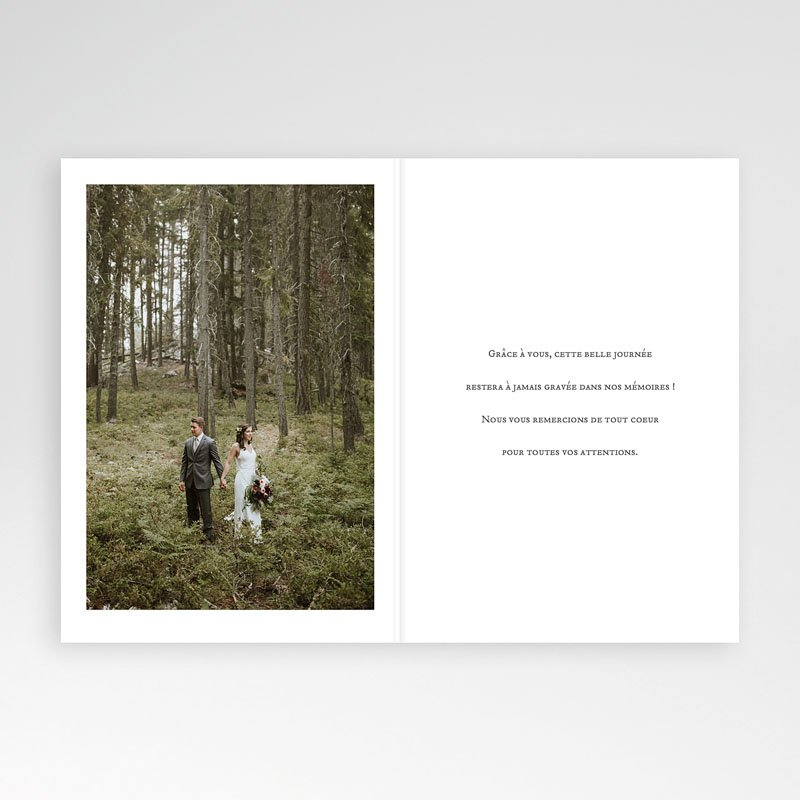 Carte Remerciement Mariage Champêtre Brin d'amour pas cher