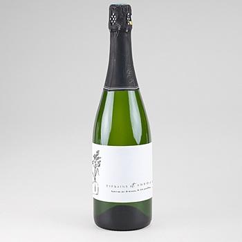 Etiquette bouteille champagne Brin d'amour
