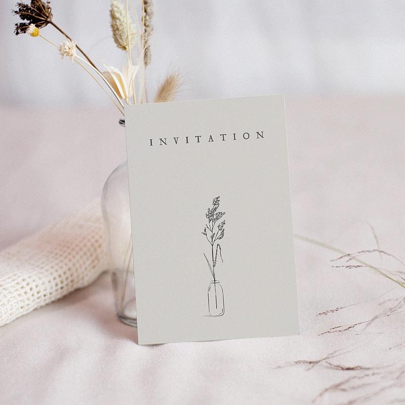 Carte Invitation Mariage Brin d'amour