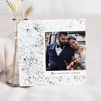 Carte remerciement mariage kraft à personnaliser