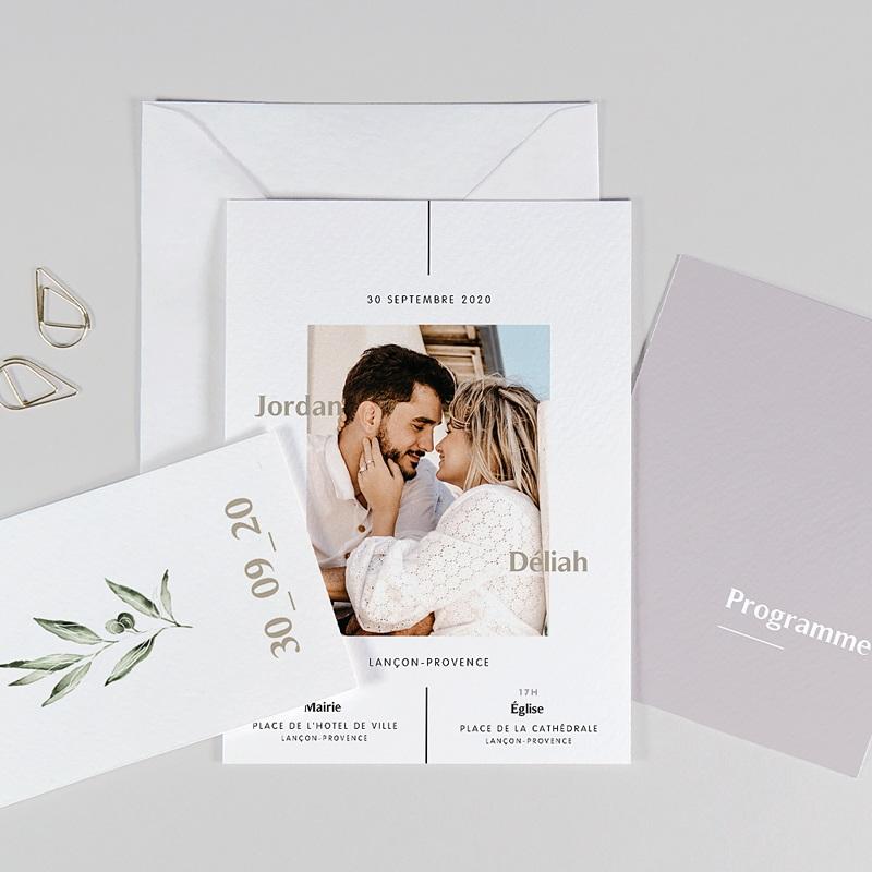 Faire-part mariage violet Be Bold