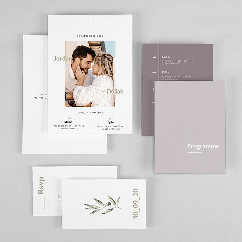 Faire-part mariage violet Be Bold gratuit