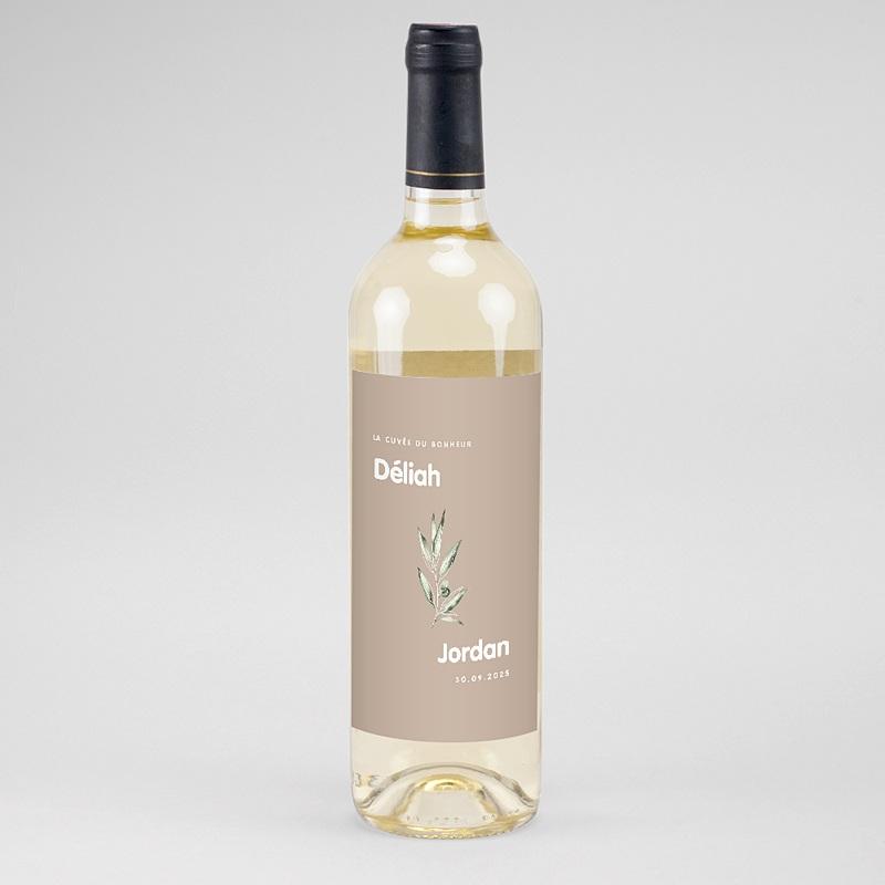 Étiquette bouteille mariage vin Be Bold