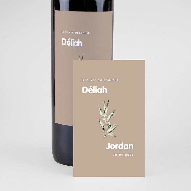 Étiquette bouteille mariage vin Be Bold pas cher