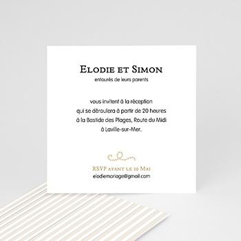 Carton Invitation Personnalisé - Coeur de sable - 2