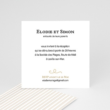 Carton invitation mer de sable personnalisé