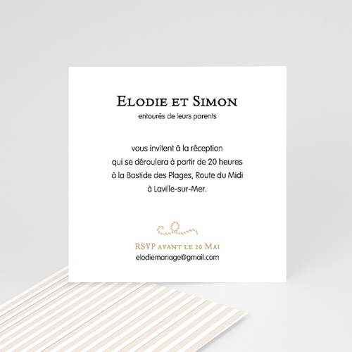 Carton Invitation Personnalisé Mer de sable