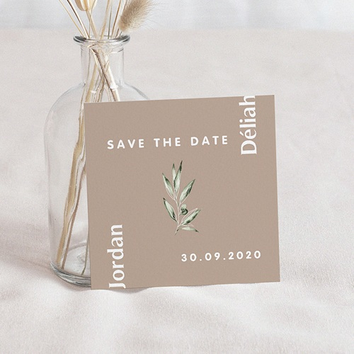 Save The Date Mariage Be Bold, D-Day, 10 x 10