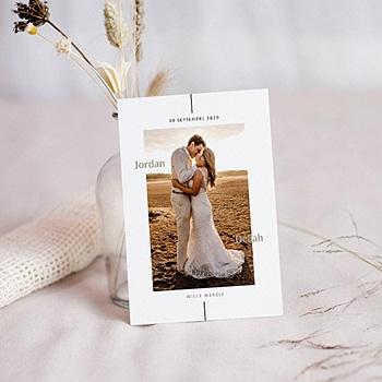 Carte remerciement mariage photo Be Bold