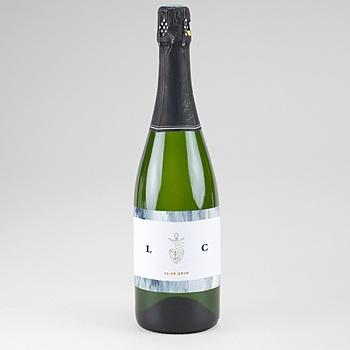 Etiquette bouteille de champagne
