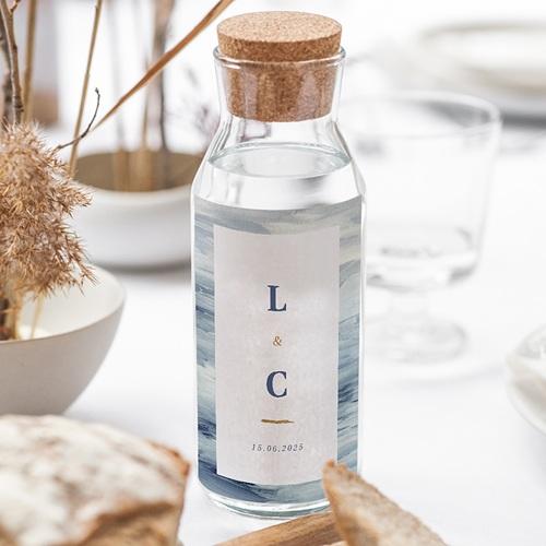 Étiquette bouteille mariage vin Côté Mer gratuit