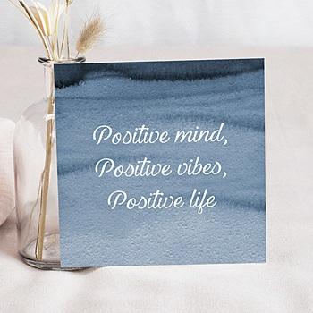 Carte de voeux entreprise Positive Attitude personnalisable
