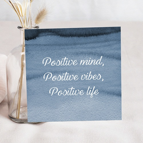Carte de voeux 2020 Positive Attitude