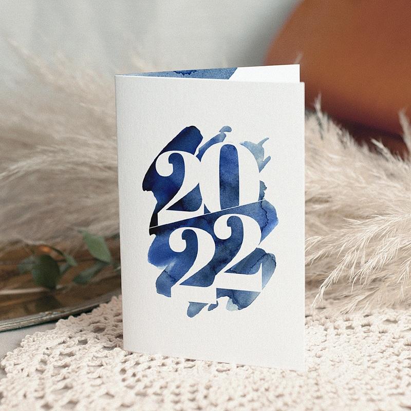 Carte de Voeux Entreprise 20 sur 20 Double volets