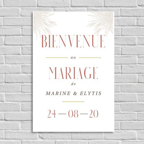 Panneau Bienvenue Mariage Affiche Bienvenue