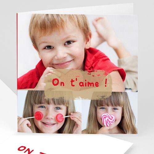 Cartes Multi-photos 3 & + - Trois clichés-Rouge 817