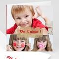 Cartes Multi-photos 3 & + - Trois clichés-Rouge 817 thumb